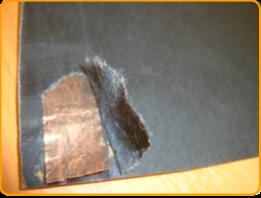 Медная шина отопительной пленки «Heat Life» вварена между двумя слоями карбона