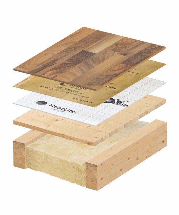 пирог под ламинат на деревяные лаги