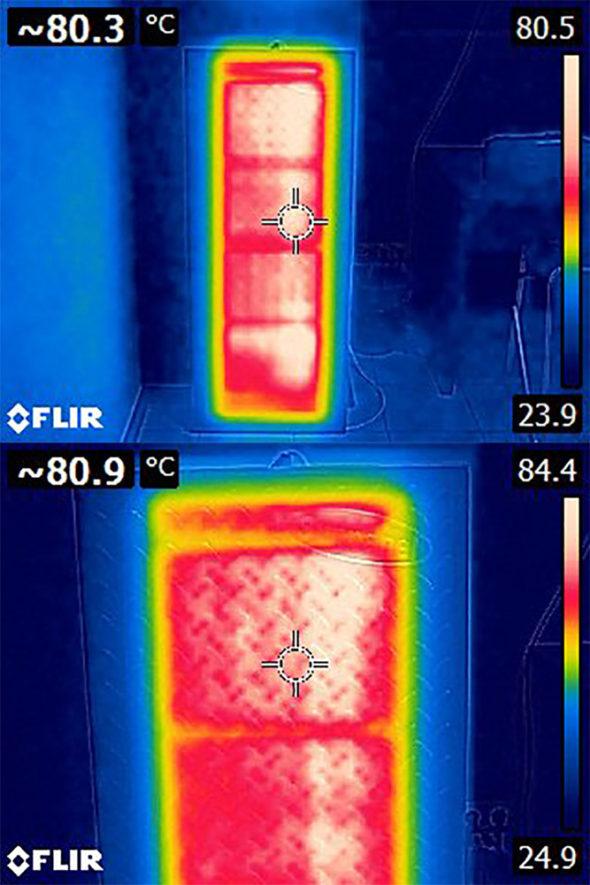 Температура инфракрасной панели СТЭП 120/60