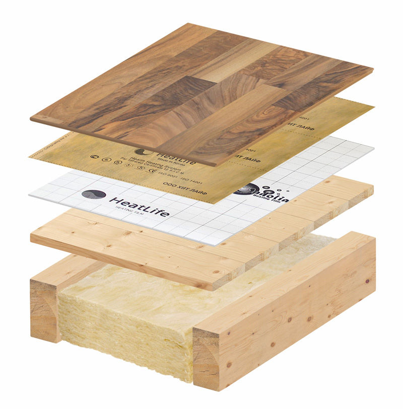 Теплый пол под ламинат на деревянное основание